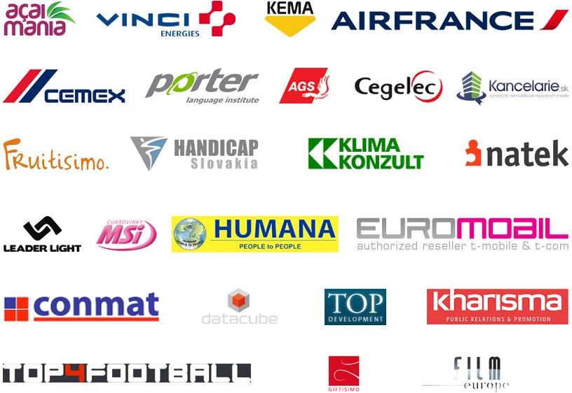 Logá referenčných firiem na služby Účtovnej a poradenskej kancelárie